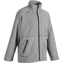 兒童款航海刷毛外套100-灰色
