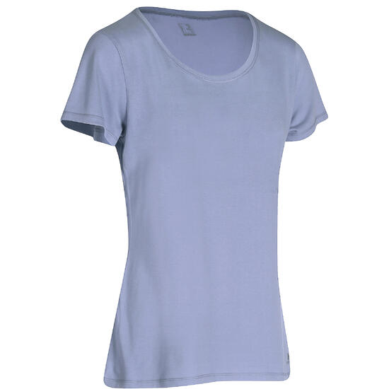 Dames T-shirt met korte mouwen voor gym en pilates, regular fit, gemêleerd - 178704
