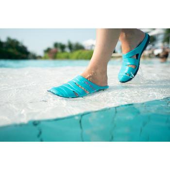 Badslippers dames Clog 100 blauw luxury