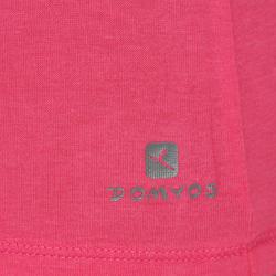Dames T-shirt met korte mouwen voor gym en pilates, regular fit, gemêleerd - 178707