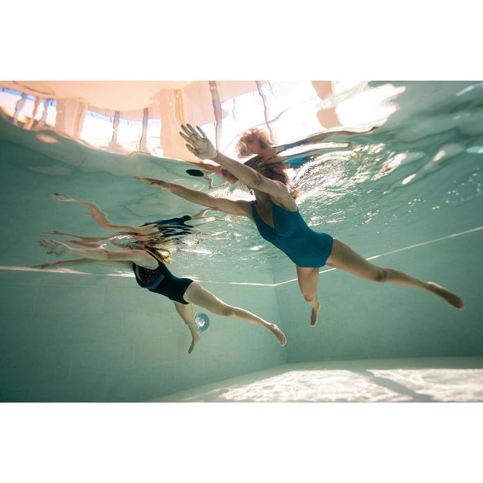 Maillot de bain gainant natation femme une pièce Kaipearl triki Canop marine