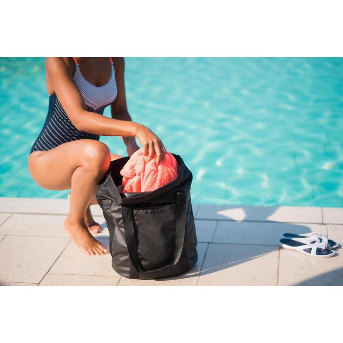 Badslippers zwembad dames Slap 500 wit/blauw