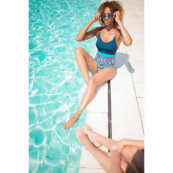 Zwembril 100 X-Base met print maat L roze/goud