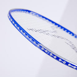 Badmintonrackets in set voor volwassenen BR 190 rood/donkerblauw
