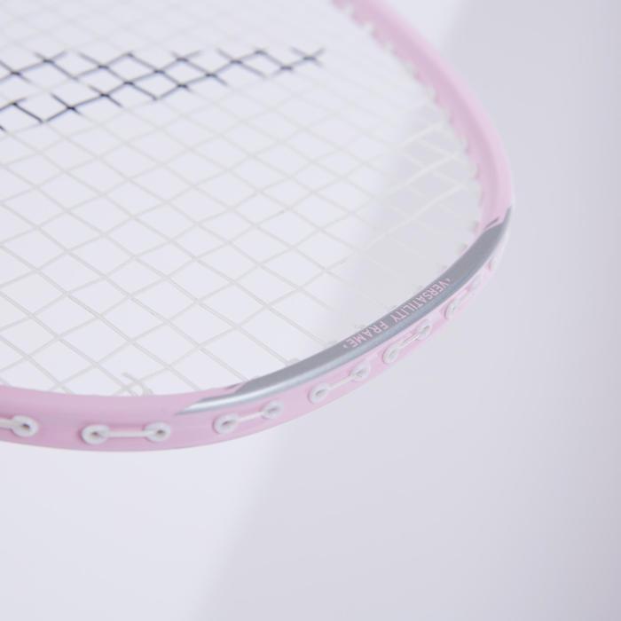 成人款羽球拍組BR 190粉紅色及綠色配色