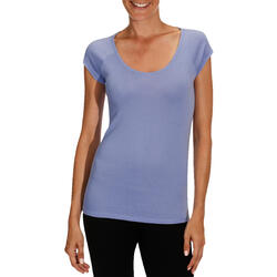 Dames T-shirt voor gym en pilates, slim fit - 178747