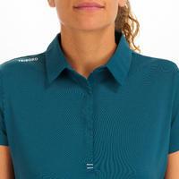 Women's Sailing Short Sleeve Polo Shirt Race - Petrol