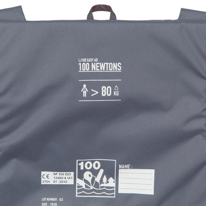 GILET DE SAUVETAGE MOUSSE ADULTE LJ 100N EASY ORANGE/GRIS