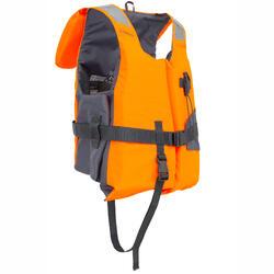 Reddingsvest met schuim voor volwassenen LJ 100N Easy oranje/grijs