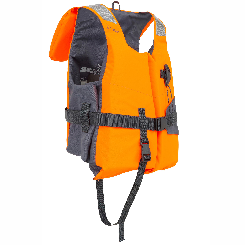 Rettungsweste Schaumstoff LJ 100N Easy Segeln Erwachsene orange/grau   Sportbekleidung > Sportwesten > Funktionswesten   Tribord
