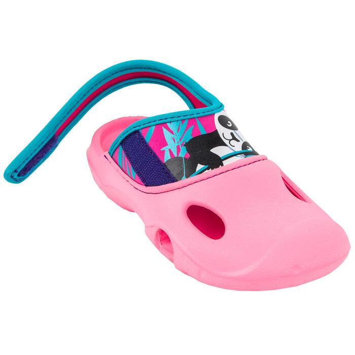 SABOTS DE PISCINE FILLE - CLOG 500 - PANDA ROSE