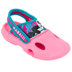 GIRL'S CLOG 500 POOL CLOGS - PANDA PINK