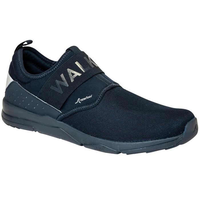Freizeitschuhe Walking PW 160 Slip-On Herren blau
