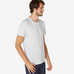 Men's Slim T-Shirt 500 - White
