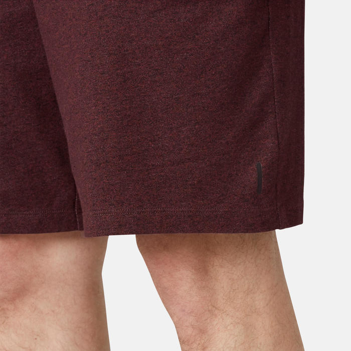 Men's Long Sport Shorts 500 - Burgundy