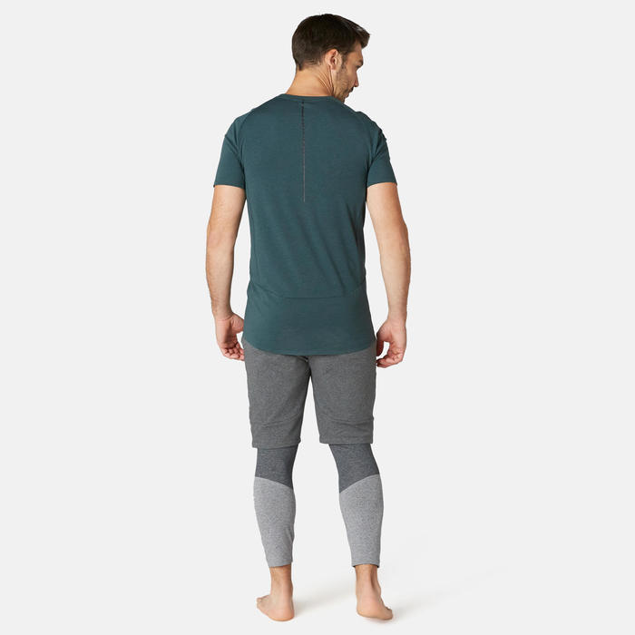 Short Sport Pilates Gym Douce homme 900 Long Slim Gris Foncé