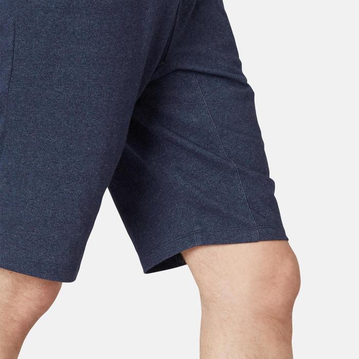 男款長版修身運動短褲520 - 藍色