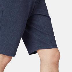 short de sport homme long poches zippées en coton bleu