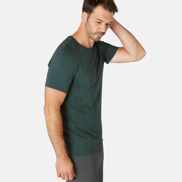T-Shirt900 Slim Gym & Pilates Herren dunkelgrün