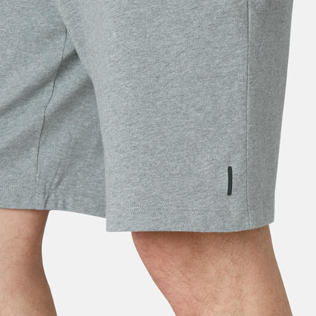 Men's Long Sport Shorts 500 - Mottled Grey