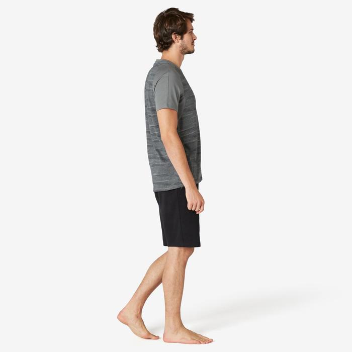 Short de sport homme long avec poches zippées en coton noir