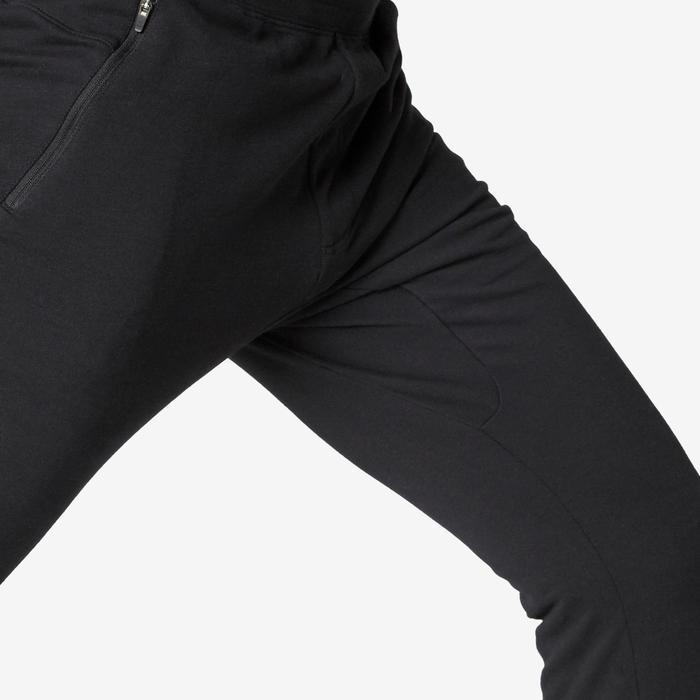 Broek voor work-out heren 500 slim fit zwart