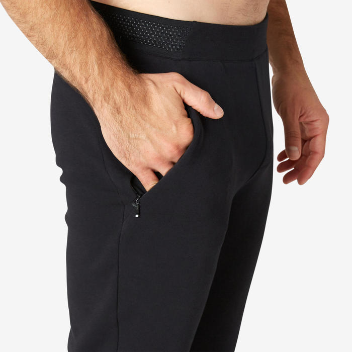 Pantalon jogging homme Spacer slim Noir
