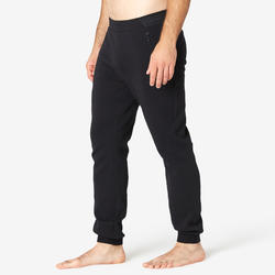 Broek voor work-out heren 540 slim fit spacer zwart
