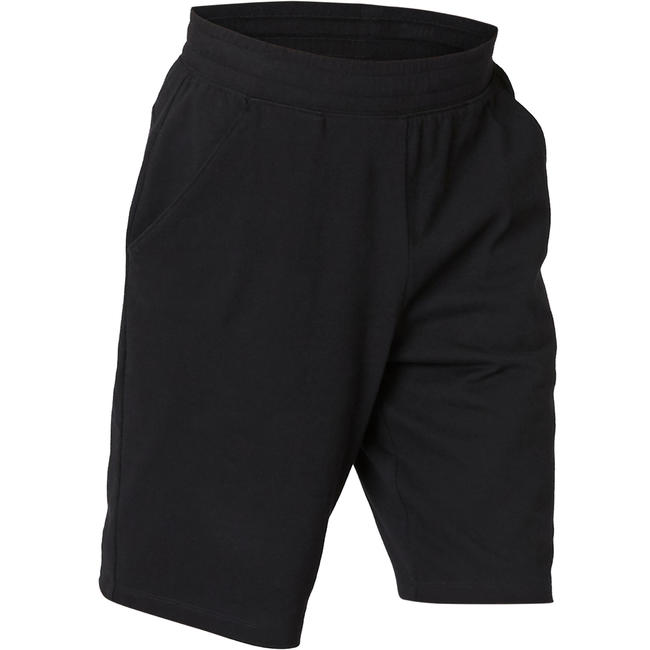 Men's Gym Shorts Regular Fit 500 - Black