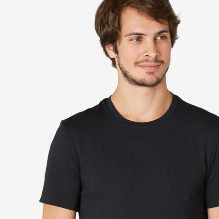 Men's Slim-Fit T-Shirt 500 - Black