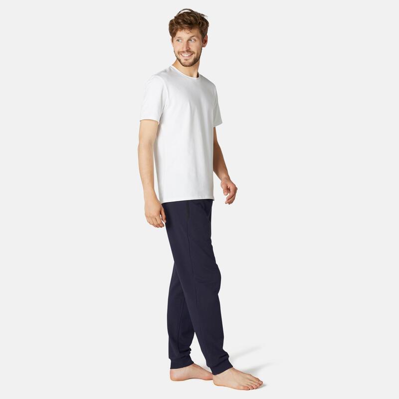 Pantalon jogging Fitness Poche Zippées Bleu Marine
