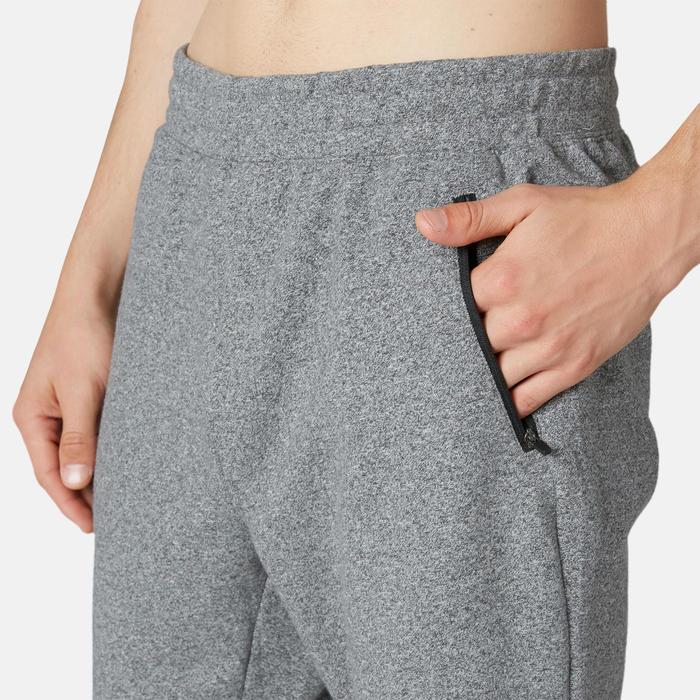 Pantalon jogging Fitness Slim Poches Zippées Gris