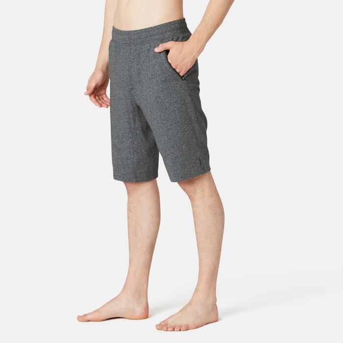 Short de Sport 520 Long Slim Homme Gris Foncé Chiné