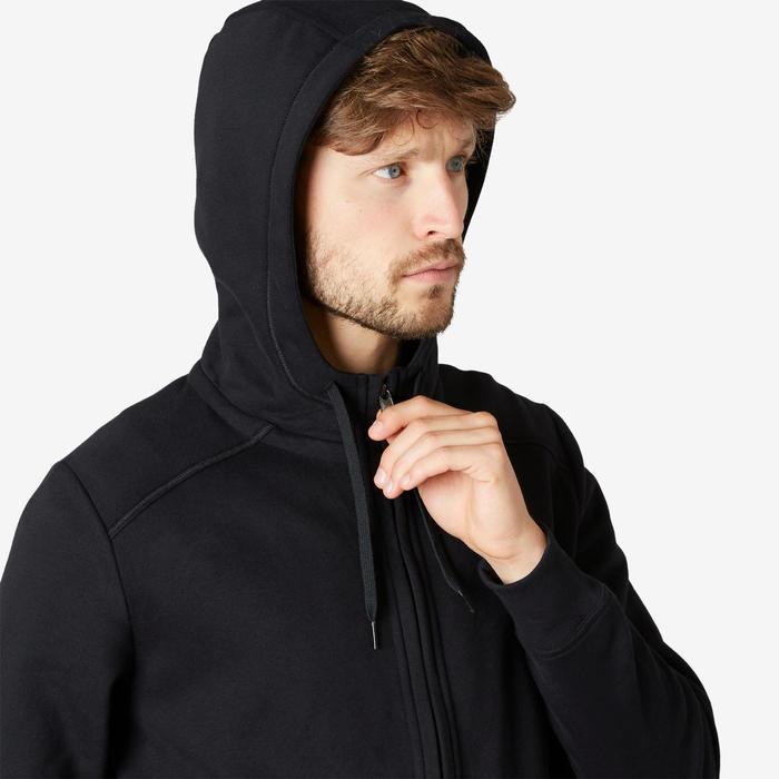 Chaqueta con capucha Training Hombre 500 negro
