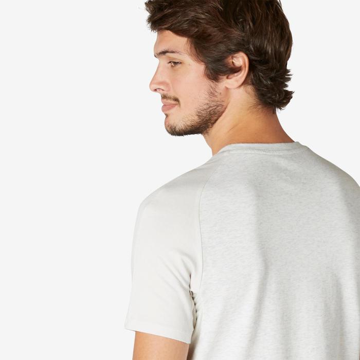 T-shirt 520 voor heren gemêleerd beige