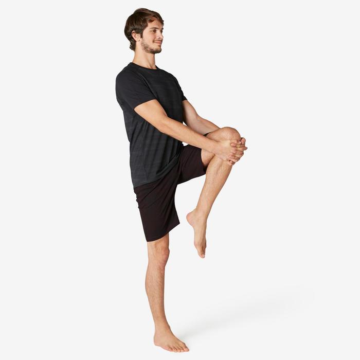Short voor pilates en lichte gym heren 520 long regular fit bordeaux met print