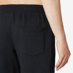 Broek voor work-out heren 500 regular fit zwart