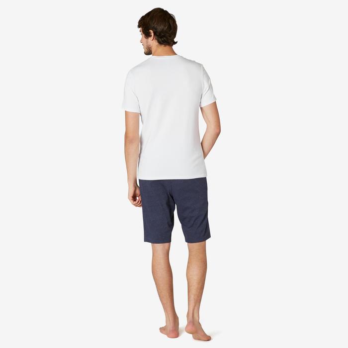 T-shirt voor pilates en lichte gym heren 500 slim fit wit