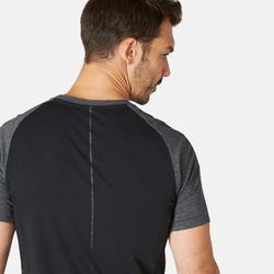 T-Shirt900 Slim Gym & Pilates Herren dunkelgrau