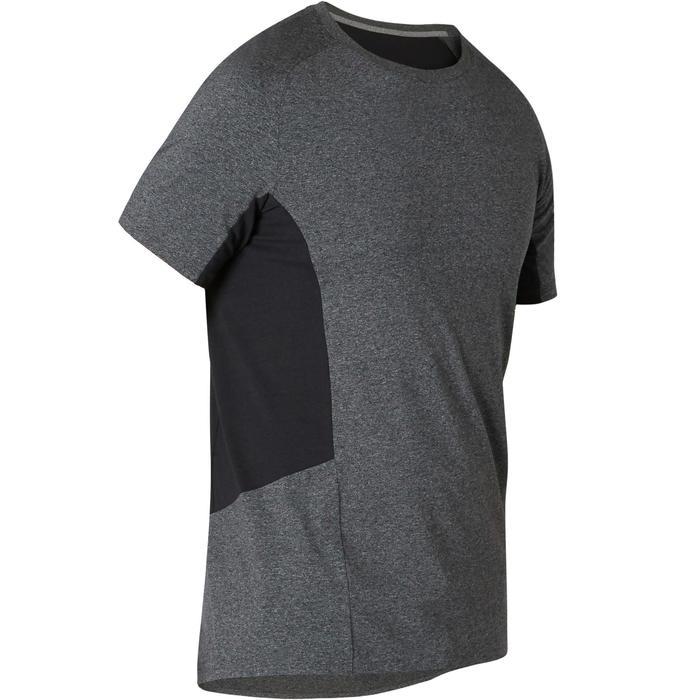 男款修身剪裁皮拉提斯與溫和健身T恤900 - 深灰色