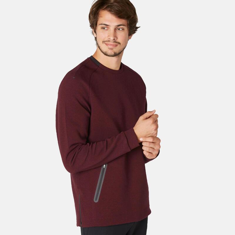 Trainingssweater Spacer heren 540 bordeaux