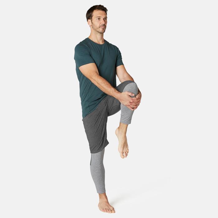 Short de sport homme long avec poches zippées gris foncé