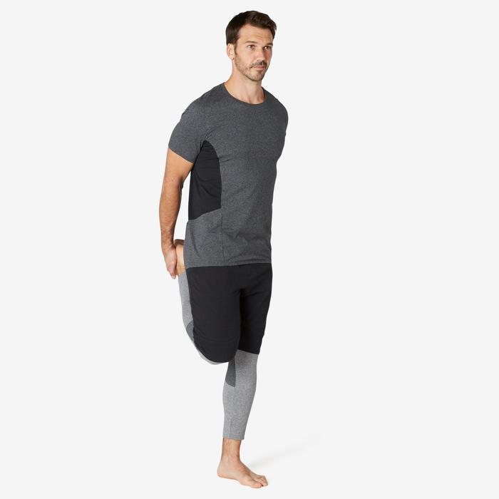 皮拉提斯與溫和健身長版修身剪裁運動短褲900 - 黑色