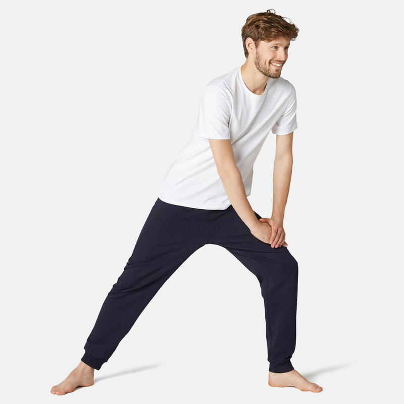 Fitness Jogging Bottoms with Zip Pockets - Navy Blue