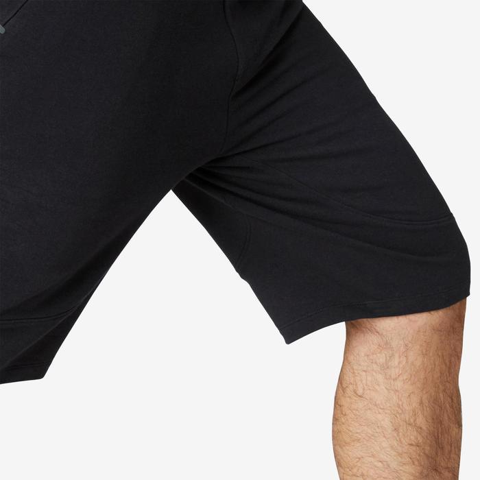 Short de sport homme long avec poches zippées noir