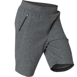 Men's Slim-Fit Long Pilates & Gentle Gym Sport Shorts 520 - Dark Grey