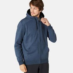 Men's Hooded Gym Jacket 500 - Blue