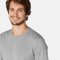 Playera Sport Pilates y Gimnasia suave hombre 500 slim gris jaspeado