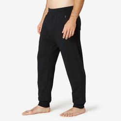 男款緊身訓練長褲500 - 黑色