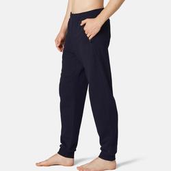 Men's Gym Trousers Slim Fit ZIP 500 - Navy Blue